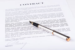 Signed contract Royalty Free Stock Image