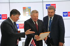 Signed a cooperation Agreement between Khabarovsk Krai Government and PJSC Mail Bank Stock Photos