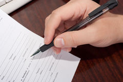 Signed document Royalty Free Stock Photography