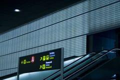 Signes à l'aéroport Photographie stock