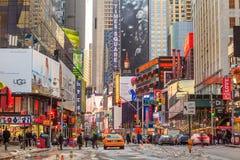 Signes électriques chez Broadway NY Photo stock