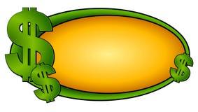 Signes 2 du dollar de logo de page Web illustration stock
