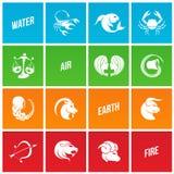Signes colorés d'étoile de zodiaque illustration libre de droits