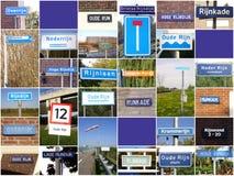 Signes concernant la rivière le Rhin Photos stock