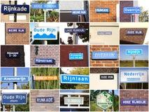 Signes concernant la rivière le Rhin Photos libres de droits