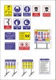 Signes courants de sécurité du travail et de santé de vecteur, enseigne de avertissement illustration de vecteur