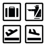 Signes d'aéroport Images libres de droits