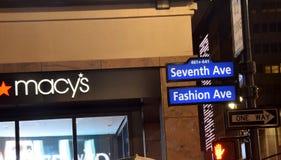 Signes d'achats de New York City Images libres de droits