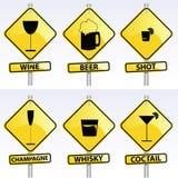 Signes d'alcool Photo libre de droits