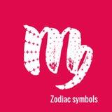 Signes d'astrologie de la Vierge de zodiaque illustration de vecteur