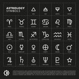 Signes d'astrologie de vecteur du zodiaque Photos stock