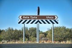Signes d'Australien à l'intérieur Image libre de droits