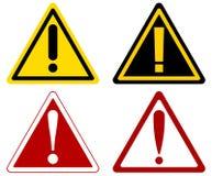 Signes d'avertissement d'une attention de vecteur Photo stock