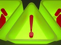 Signes d'avertissement de triangle Images stock