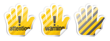 Signes d'avertissement de vecteur Image stock