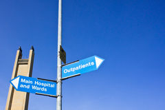 Signes d'hôpital photo stock
