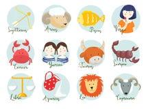Signes d'horoscope de trame illustration de vecteur