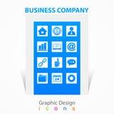 Signes d'icônes de société commerciale de conception graphique Photos libres de droits