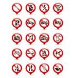 Signes d'interdiction Photographie stock libre de droits