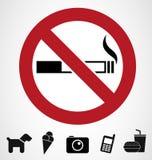 Signes d'interdiction Photos libres de droits