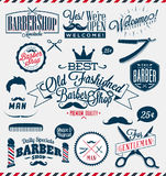 Signes de Barber Shop ou de coiffeur Photos stock