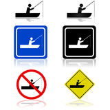 Signes de bateau de pêche Image stock