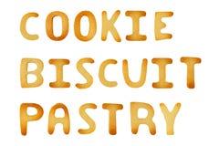Signes de biscuit Photographie stock
