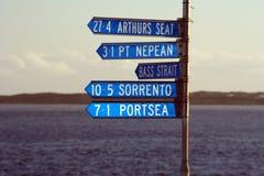 Signes de bord de la mer Photo stock