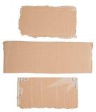 Signes de carton Photographie stock libre de droits