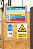 Signes de chantier Images libres de droits