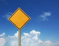 Signes de ciel et de route Images libres de droits