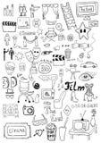 Signes de cinéma Images libres de droits