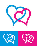 Signes de coeur Photos libres de droits