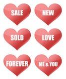 Signes de coeur Photo libre de droits