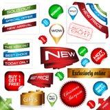 Signes de commerce électronique Photo stock