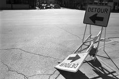 Signes de détour Photographie stock