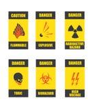 Signes de danger illustration de vecteur