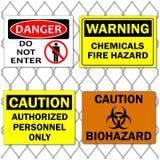 Signes de danger illustration stock
