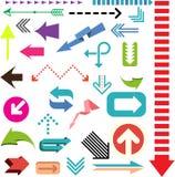 Signes de flèche de couleur illustration stock