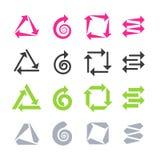 Signes de flèches, icônes Images libres de droits