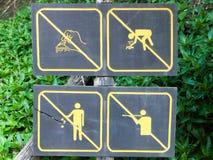 Signes de forêt Photo libre de droits