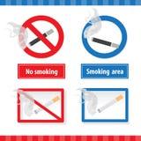 Signes de fumage Photos libres de droits