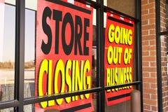 Signes de la récession Photo libre de droits