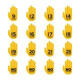 Signes de limite d'âge et de restriction de vecteur réglés Illustration Stock