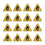 Signes de limite d'âge et de restriction de vecteur réglés Illustration Libre de Droits