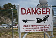 Signes de Maarten Aiport de saint, Antilles hollandaises Photos libres de droits