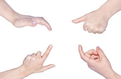 Signes de main Images libres de droits