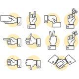 Signes de main Image libre de droits