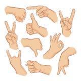 Signes de main Photo libre de droits