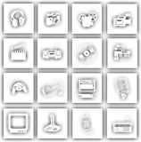 Signes de matériel électronique Image libre de droits
